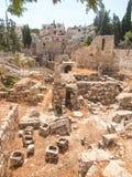 Altes Pool von Bethesda-Ruinen Alte Stadt von Jerusalem Lizenzfreie Stockbilder