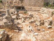 Altes Pool von Bethesda-Ruinen Alte Stadt von Jerusalem Stockfotos