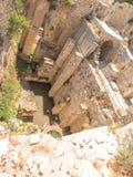 Altes Pool von Bethesda-Ruinen Alte Stadt von Jerusalem Stockfoto