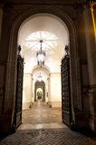 Altes Portal bis zum Nacht Lizenzfreies Stockbild