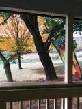 Altes Portal im Herbst Stockbilder