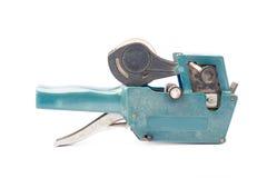 Altes Preisschild, Shoppreiskalkulationsgewehr, weicher Schatten, auf einem weißen backg Lizenzfreie Stockbilder