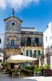 Altes Quadrat in Apulien, Italien Stockfotografie