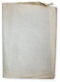 Altes Quadrat gezeichnetes Papier Stockbild