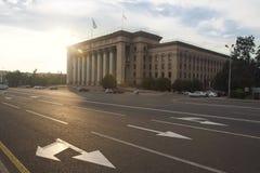 Altes Quadrat von Almaty Stockbild