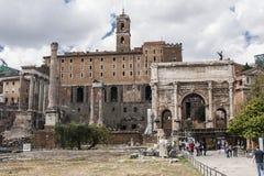 Altes römisches Forum in Griechenland Stockfoto