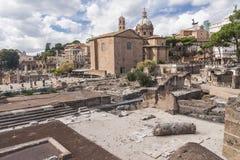 Altes römisches Forum in Griechenland Lizenzfreies Stockfoto