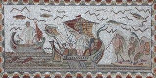 Altes römisches Mosaik lizenzfreie stockfotografie