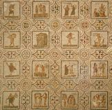 Altes römisches Mosaik. Kalender Stockbild