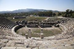 Altes römisches Theater bei Miletus in südlichem lizenzfreie stockfotografie