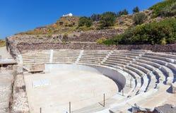 Altes römisches Theater, Milos Insel, Griechenland Stockbild