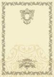 Altes Rahmendesign der klassischen Weinlese Stockfotos