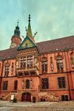 Altes Rathaus auf Marktplatz in Breslau Breslau, niedrigeres schlesisches, Polen Lizenzfreie Stockfotos