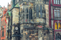 Altes Rathaus auf Staromestska Quadrat in Prag Lizenzfreies Stockbild