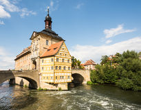 Altes Rathaus of Bamberg Stock Photo