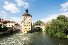 Altes Rathaus di Bamberga Fotografia Stock