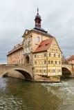 Altes Rathaus eller gammal stad Halll i Bamberg, Tyskland Royaltyfria Foton