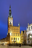 Altes Rathaus in Gdansk Stockfotografie