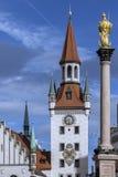 Altes Rathaus - Mariensaule - München - Duitsland Stock Foto