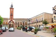 Altes Rathaus in Mombeltran, Spanien lizenzfreie stockbilder