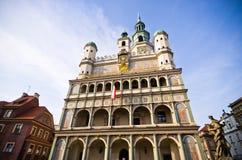 Altes Rathaus in Posen, Polen Stockbilder