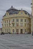 Altes Rathaus Stadt-Sibius Rumänien Stockbild