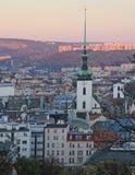 Altes Rathaus und andere Gebäude in Brno Stockfoto