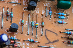 altes Rechnerschaltungsbrett Stockbilder