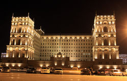Altes Regierungs-Haus in Baku Stockbilder