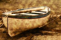 Altes Reihenboot lizenzfreie stockfotos