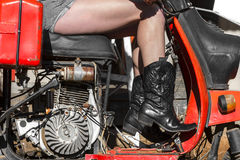 Altes Retro- Moped Lizenzfreie Stockfotografie
