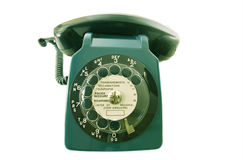 Altes Retro- Telefon Stockbilder