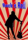 Altes Rock-and-Rollplakat Lizenzfreie Stockfotografie