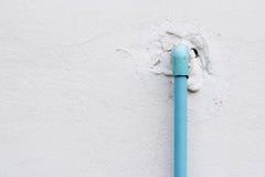 Altes Rohr des Wasserarbeitssystems Stockbild