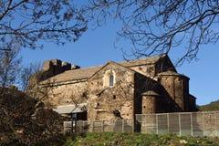 Altes Romanesquekloster später Sant des 8. Jahrhunderts Quirze de Co Stockfoto