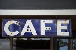 Altes rostiges Cafézeichen Lizenzfreie Stockfotos