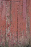 Altes Rot gemalte hölzerne Bretter Stockfotos
