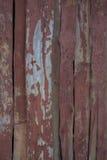 Altes Rot gemalte hölzerne Bretter Lizenzfreie Stockfotografie