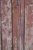 Altes Rot gemalte hölzerne Bretter Stockbild