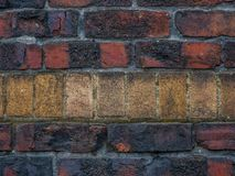 Altes Rot und Tan Brick Background stockbilder