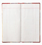 Altes rotes Abdeckungnotizbuch lizenzfreies stockbild
