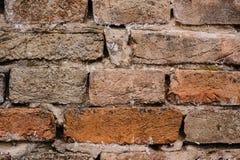 Altes Rotes, braun, weiß, Backsteinmauer, Beschaffenheit, Hintergrund lizenzfreies stockbild