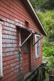 Altes rotes Haus Ketchikan Alaska Stockbilder