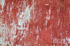 Altes rotes Metall mit Oxid Stockfoto