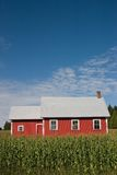 Altes rotes Schule-Haus 2 Lizenzfreies Stockfoto