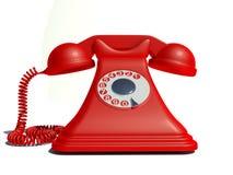 Altes rotes Telefon stockfotografie