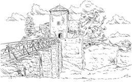 Altes Ruinenschloss Stockfotos