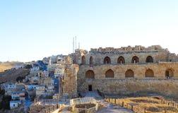 altes Ruinenschloss in Jordanien lizenzfreies stockfoto