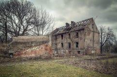Altes ruiniertes Gebäude Stockfoto