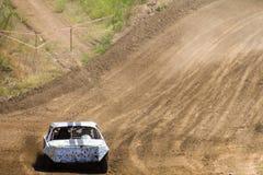 Altes ruiniertes Rennen der Autos auf Lager Stockfotografie